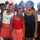 The girls from Villiersdorp High School dressed in their traditional African wear.