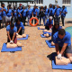 The group partakes in practical Cardio Pulmonary Resuscitation (CPR) at the Groot Drakenstein Cultural Facility