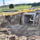 The Klein Welmoed rail underpass culvert under construction.