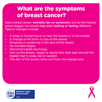 7 symptoms of breast cancer