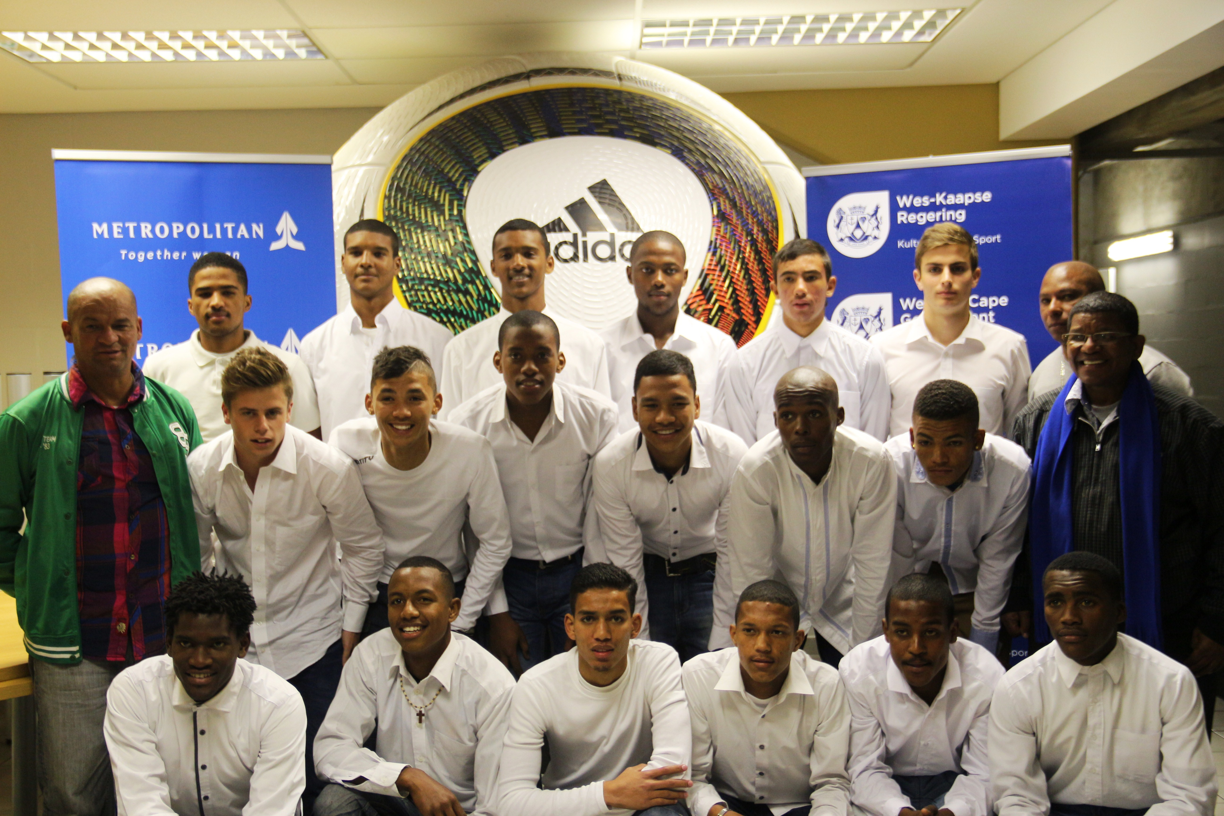 Team Western Cape along with their coaches and team manager