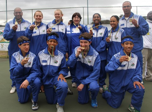 Team Western Cape Tennis u17 gold at the National School Sport Championships Winter Games in Durban