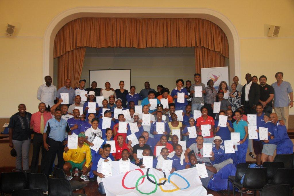 The attendants after the Certificate Ceremony which took place at the training programme in Franschhoek