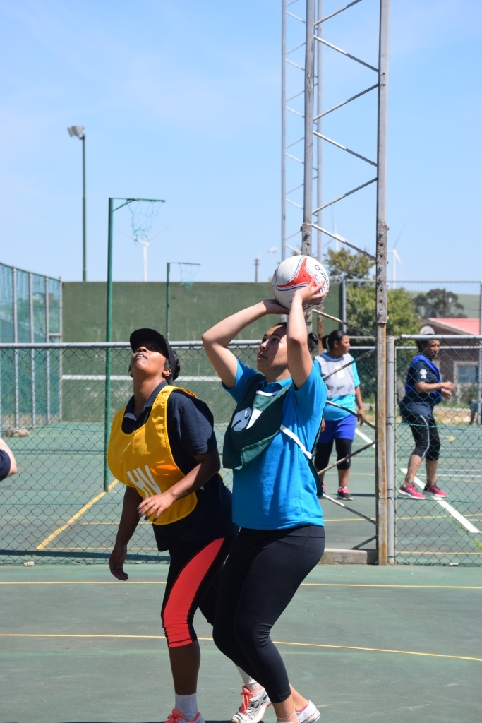The heat was on at midday at the netball courts in Caledon
