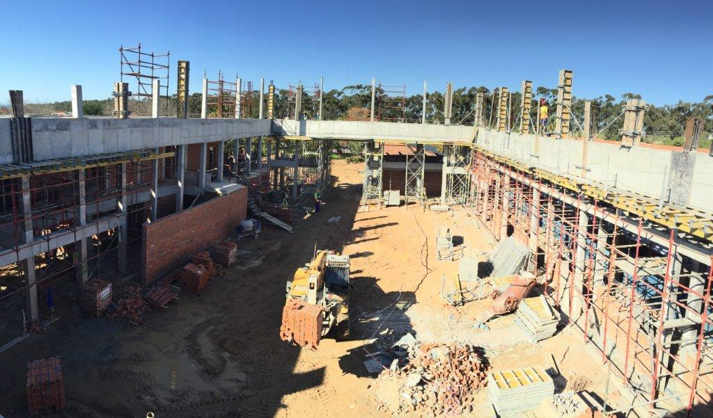 The intermediate and senior phase buildings during construction.