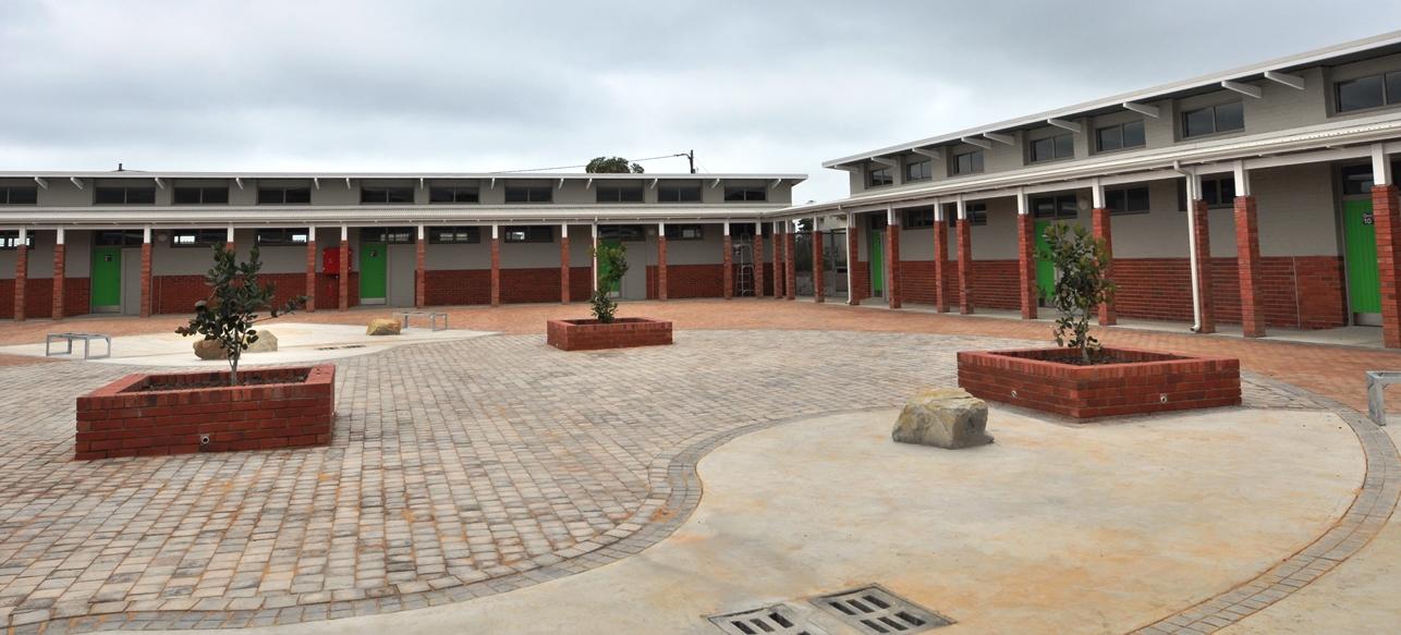 The intermediate phase courtyard.