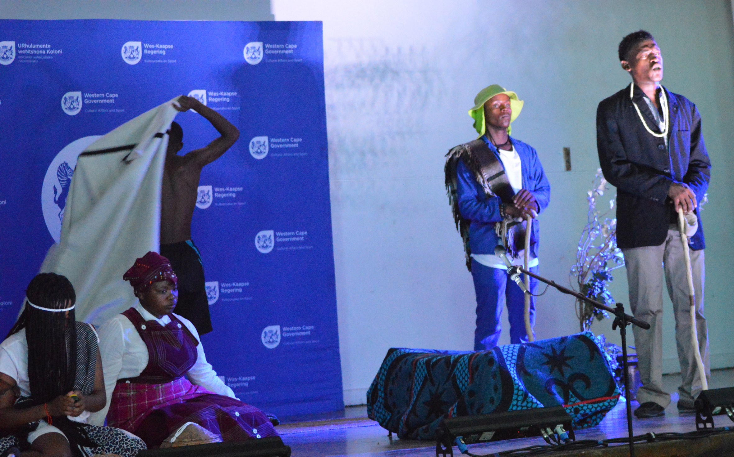 The Kwakhanye Aftercare group perform the play that won them first place at Saturday's Cape Winelands Drama Festival in Ceres.