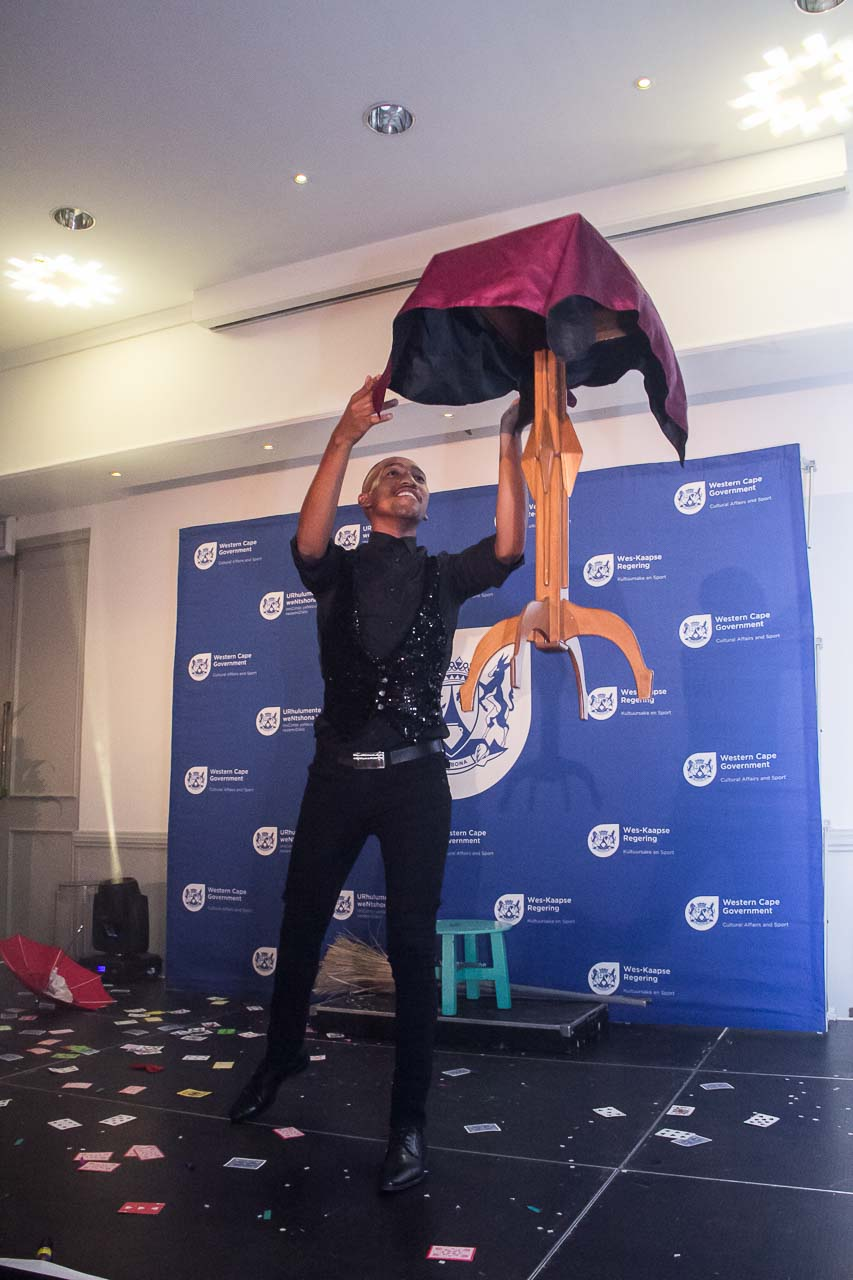 The magician from the College of Magic entertained the guests at the 2016/17 Cultural Affairs Awards ceremony