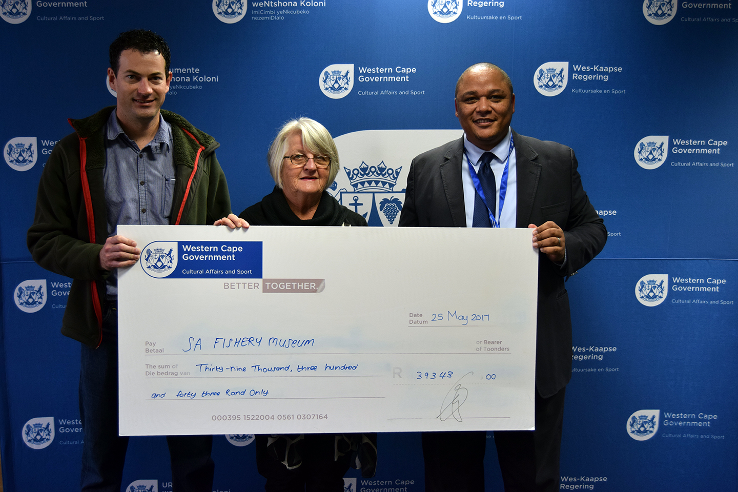 The SA Fisheries Museum in Velddrif received R39 343 from DCAS