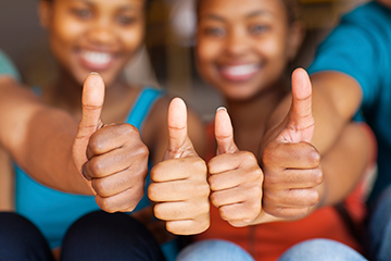 thumbs up for good mental health