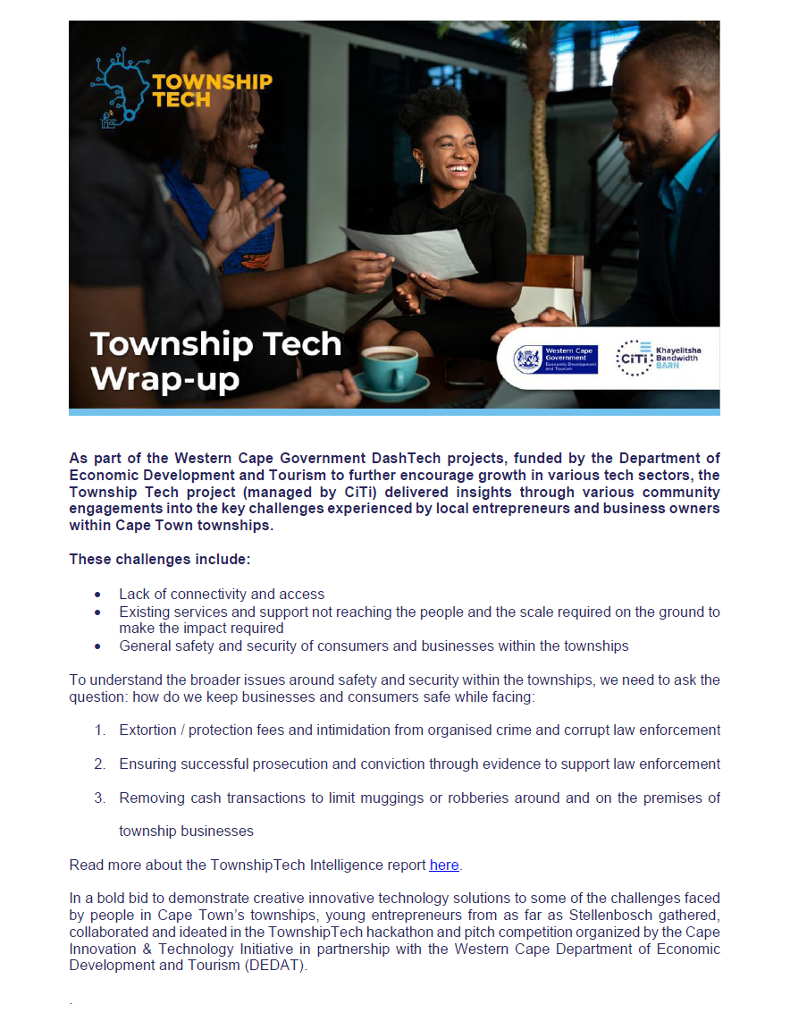 TownshipTech newsletter #5_Wrap up