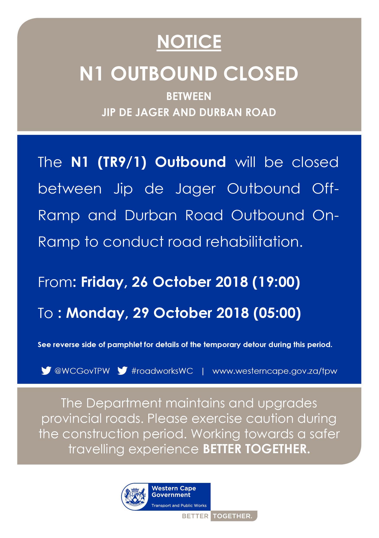 N1 road closures