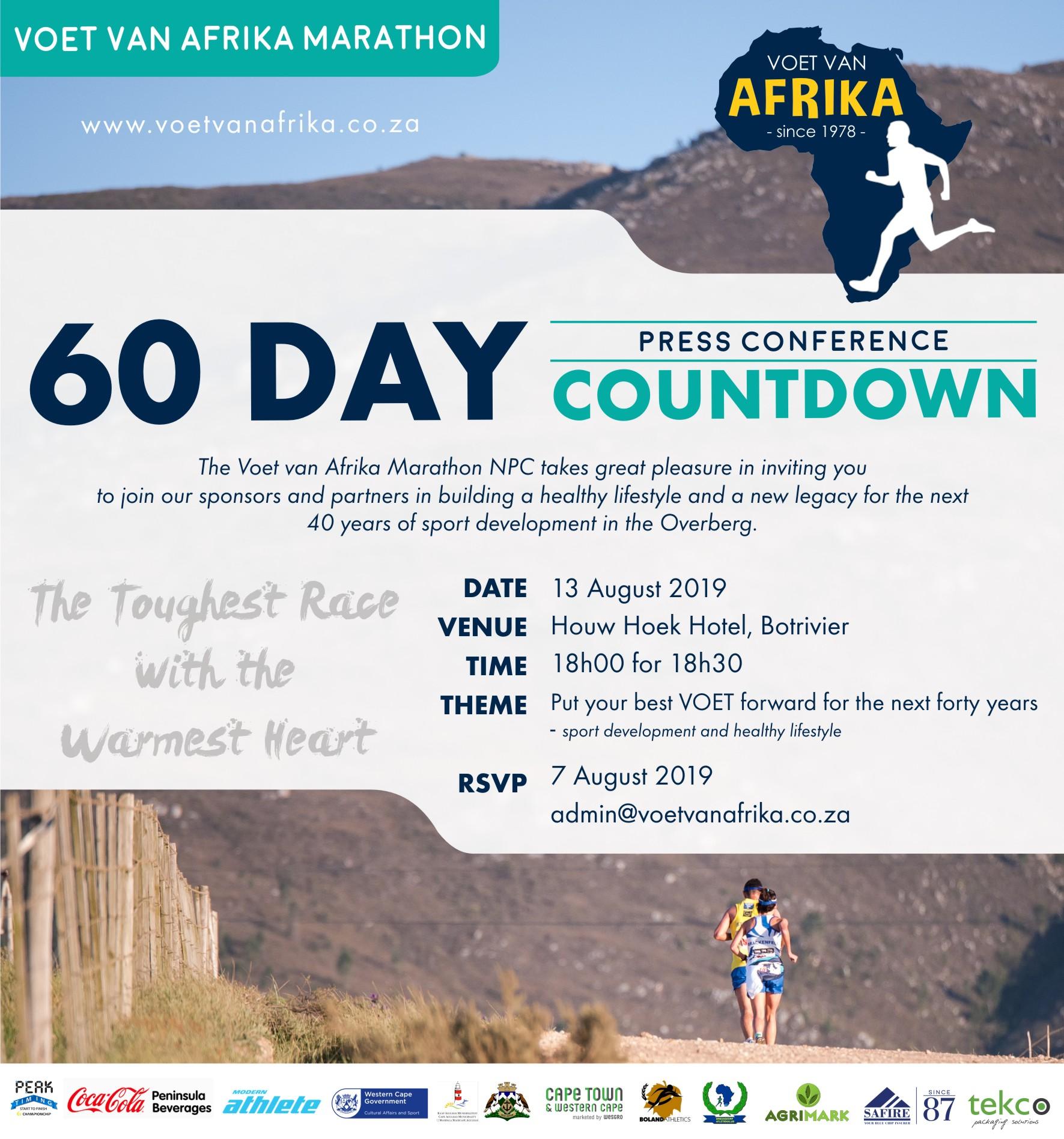 Voet Van Afrika 60 Day Countdown Conference