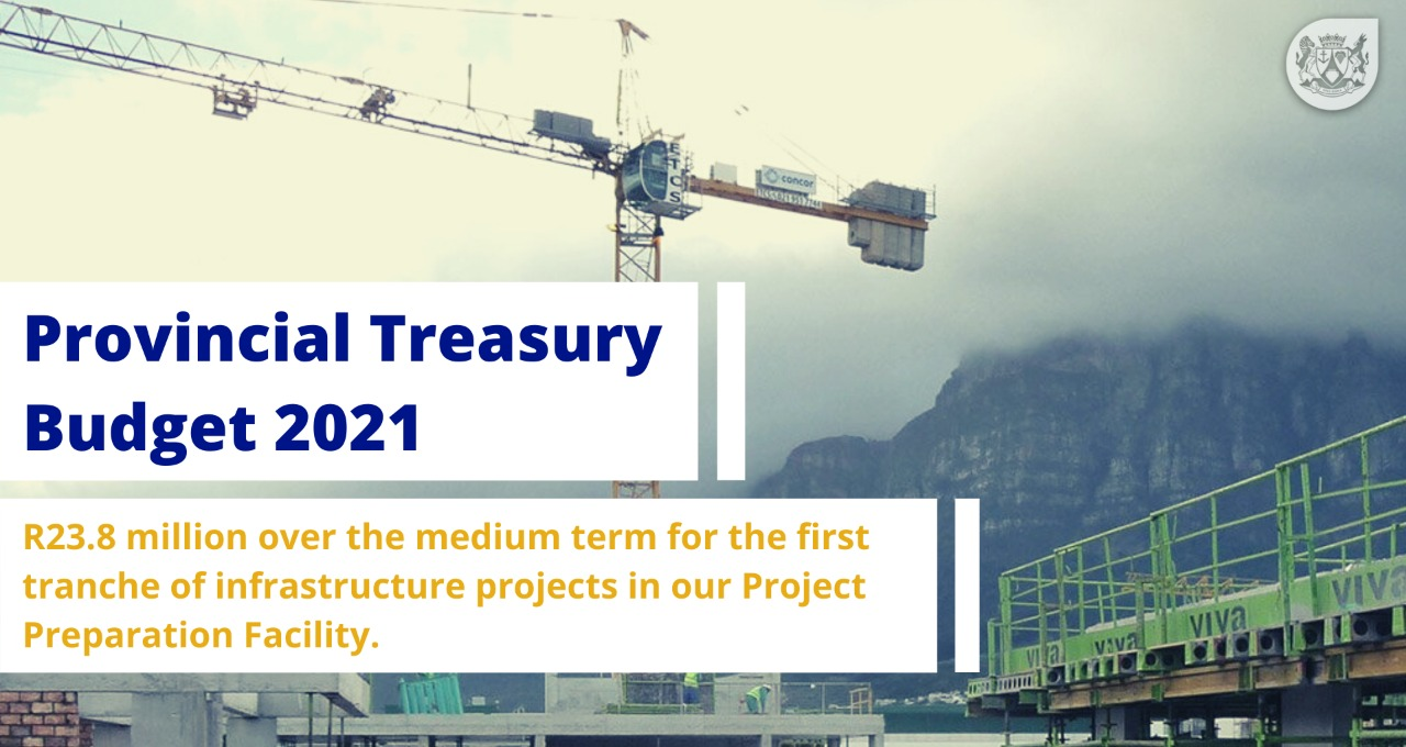 R23.8 million over the medium term for the first tranche of infrastructure projects in our Project Preparation Facility