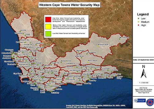 Drought risk status as of September 2020
