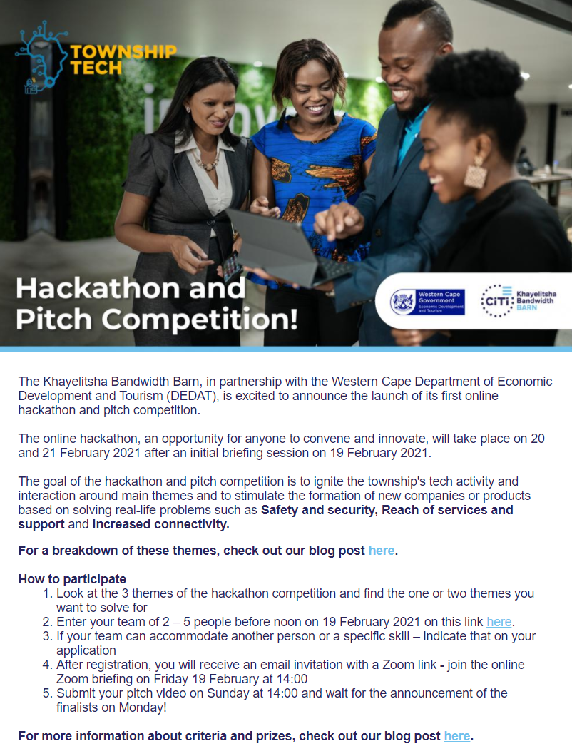TownshipTech newsletter #2_Hackathon and Pitch competition