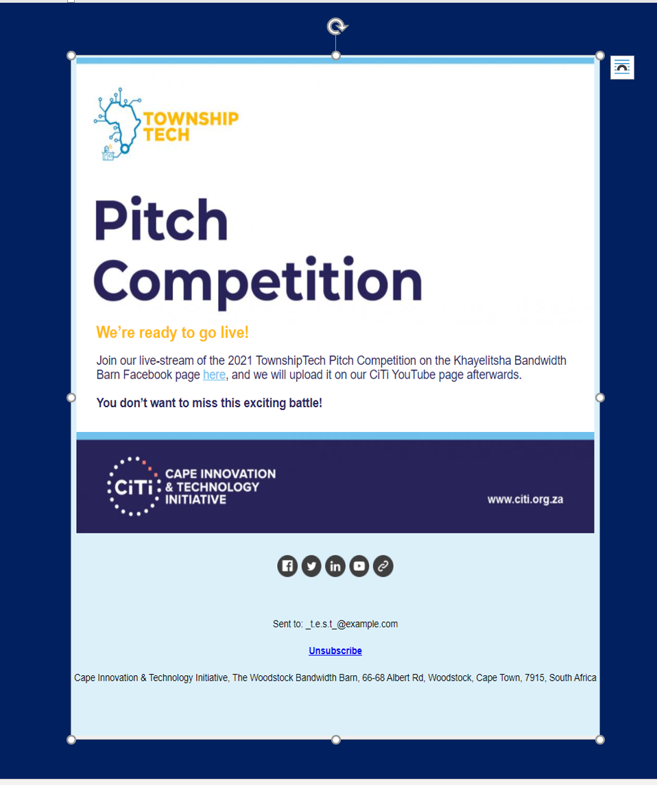 TownshipTech newsletter #4_Pitch competition going live
