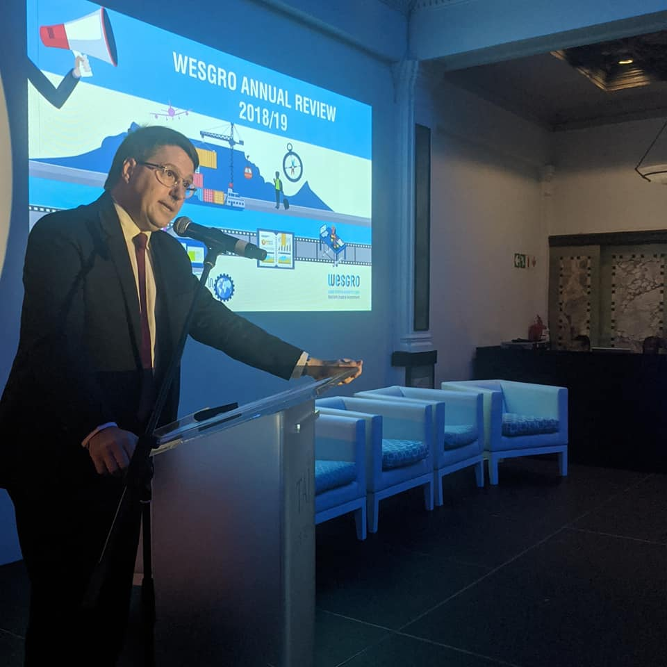 Minister David Maynier speaking at the Wesgro Annual Review