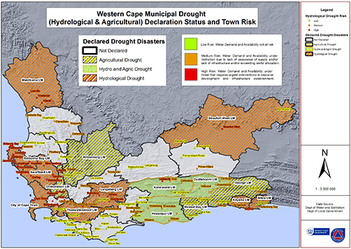 August 2017 Western Cape drought map.