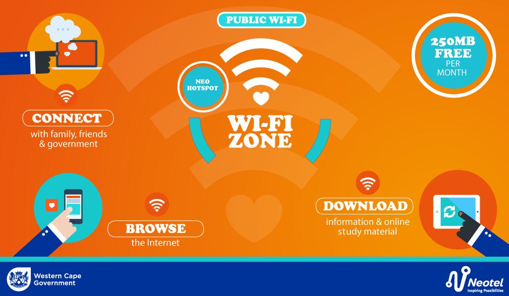 Western Cape Government Wi-Fi zones