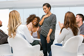 young female attending counselling session