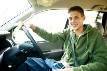 Young man driver