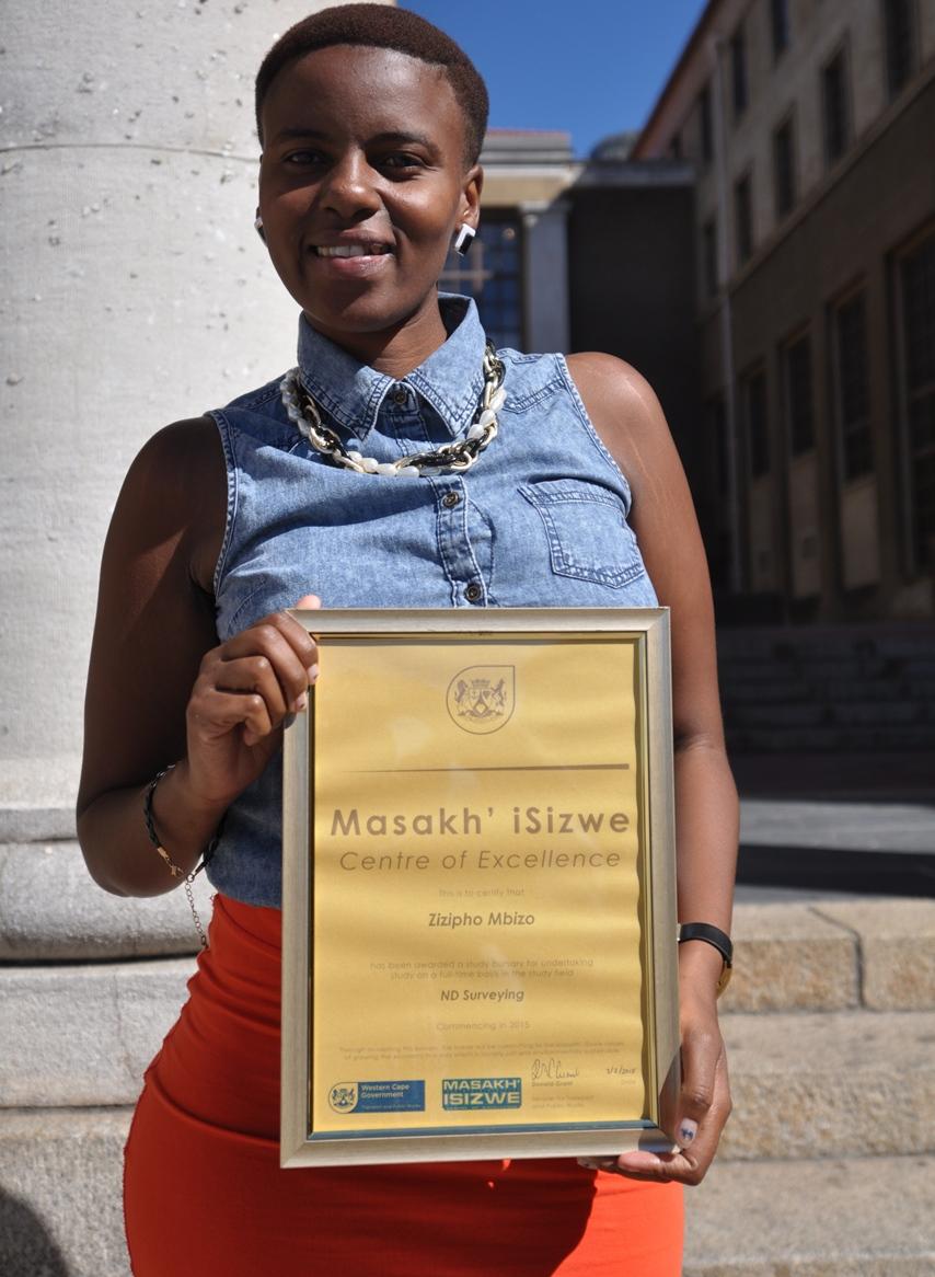 Zizipho Mbizo received a Masakh'iSizwe bursary.